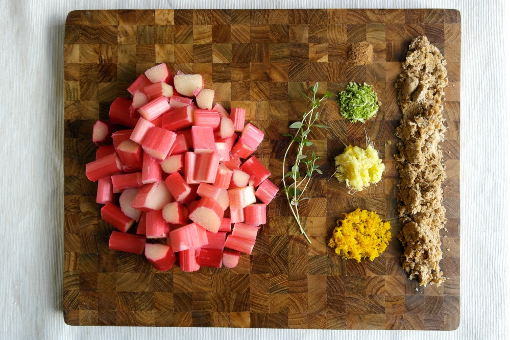 Rhubarb Compote Layout